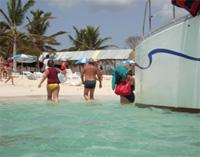 On Catamaran to Playa Bonita